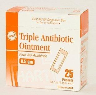 HART Health Triple Antibiotic Ointment, 0 5gm, 25/box, 3-Box Set by HART  Health