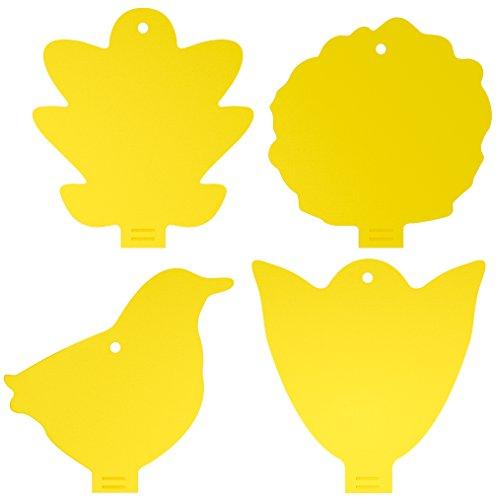 TwinterS 2in1 Fliegenfallen - Gelbsticker, Gelbtafeln, Gelbstecker, Dekorative Leimfalle Gegen Trauermücken 20 Stück - Kleine Fliegen-falle