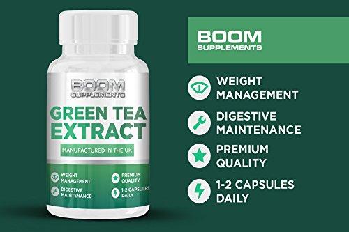 Grüner Tee Kapseln 850mg | Grüntee Extrakt 850mg Höchste Stärke | 90 wirkungsvolle Fett-Burner Kapseln | Grüntee Kapseln | Hilft Männern und Frauen bei der Fettverbrennung | Erreichen Sie SCHNELL Ihre