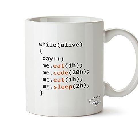 hippowarehouse Tag der Programmierer 283,5Tasse, keramik, weiß, One Size (10oz)