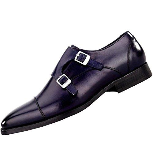 QVRGE Chaussures Derby Pour Homme blue