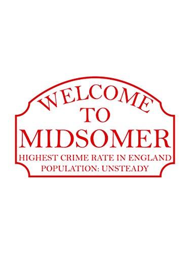 clothinx Herren T-Shirt Midsomer Inspector Weiss mit rotem Aufdruck