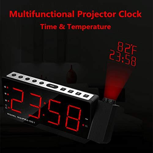 Khxypm 86 Despertador Proyector LED Pantalla Digital Temperatura ...