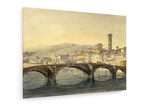 William Turner - Florenz vom Arno - 100x75 cm - Leinwandbild auf Keilrahmen - Wand-Bild - Kunst, Gemälde, Foto, Bild auf Leinwand - Alte Meister/Museum
