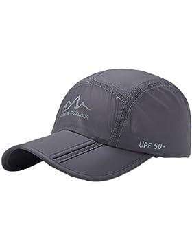 Aesy Gorras de Béisbol, Malla Gorra Plegable Quitasol Rápido Seco Respirable Impermeable Ajustable Sombreros de...