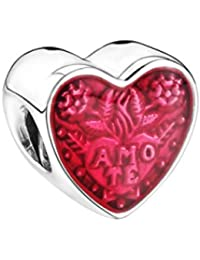 Abalorio Pandora 792048EN117 Mujer Plata Corazón Esmalte