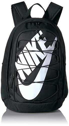 Nike Unisex-Adult Nk Hayward Bkpk - 2.0 Luggage- Messenger Bag, Black/Black/White, 45 cm