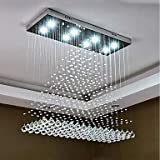 8-Licht Kronleuchter Moonlight - Kristall, Inklusive Glühbirne, Designer, 110-120V / 220-240V, Wärm Weiß/Kühl Weiß, Inklusive Glühbirne