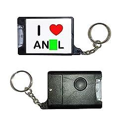 Idea Regalo - BadgeBeast.co.uk I Love Anal - Portachiavi con torcia nera