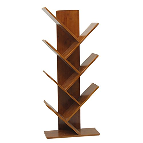 BOOK CASE Bücherregal 7 Regal Hard Wood Tree Shaped, Mehrzweck kompakte Bücherregal, Lagerung Filme & Bücher Regale, Einfache Ständigen Home Office Rack (Bücherregal Book)