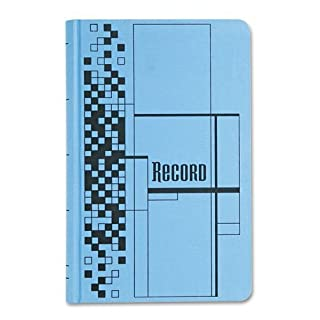 Adams Business Forms Record Ledger Book, Blue Cloth Cover, 500 7 1/2 x 12 Pages by Adams Business Forms