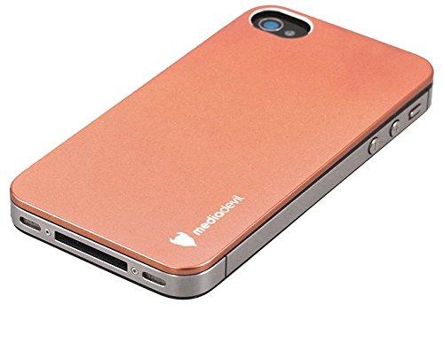 MediaDevil Tinskin Aluminiumschutz für die Rückseite für Apple iPhone 4/4S (Kupfer) Kupfer