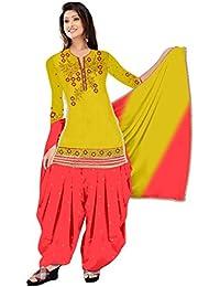 Mahi Fashion Women's Cotton Dress Material (MF30_Free Size_Multi-Coloured)