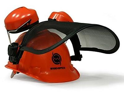 Forst-Helm von Sägenspezi Kopfschutzkombination (Gehörschutz und Gesichtsschutz)