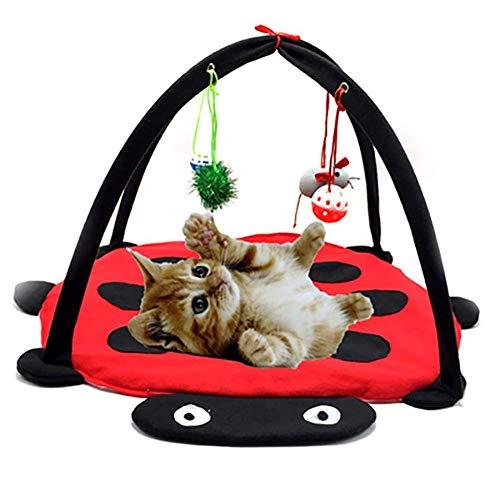 Baumwoll-wohnzimmer-stuhl (Curitely Faltbare Katzenbett, Katzen, Hängematte, Baumwolle, weich, atmungsaktiv, Zelt, Kätzchen, Spielzeug)