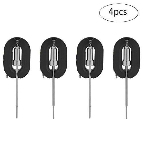 Yosoo BBQ Thermometer Sonde Edelstahl ersatzsonden Zusätzliche Long Range Sonden für Bluetooth BBQ Grill Fleisch Thermometer 4Packungen
