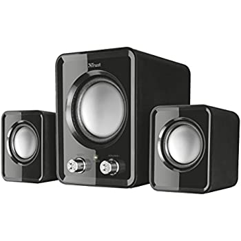 speakers computer. trust ziva compact 2.1 pc speakers with subwoofer for computer and laptop, 12 w, -