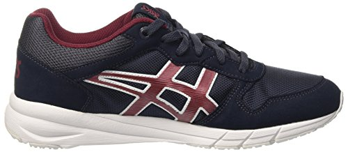 Asics Shaw Runner, Chaussures de Sport Mixte Adulte Blu (India Ink/Burgundy)