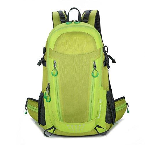Mens Multifunktions-Multi Versenkten Großräumige Wasserdicht Reise Sport Rucksack,Blue Yellow