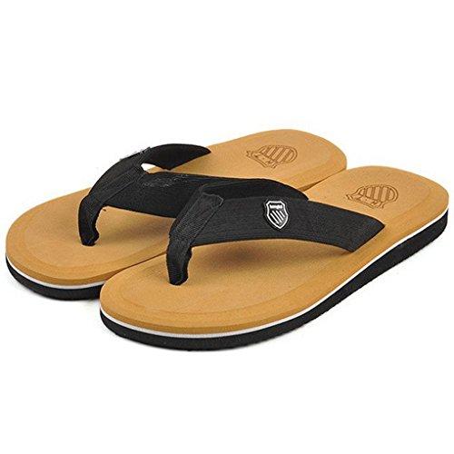 Vertvie Herren Sommer Schuhe Strand Sandalen Indoor Outdoor Slipper Zehentrenner Pantoletten Flip Flop (44, Gelb) -