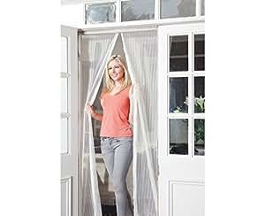 jml snap screen magnetised door screen white. Black Bedroom Furniture Sets. Home Design Ideas