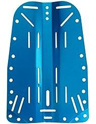 Scuba Choix Tech plongée en aluminium plaque arrière, Bleu