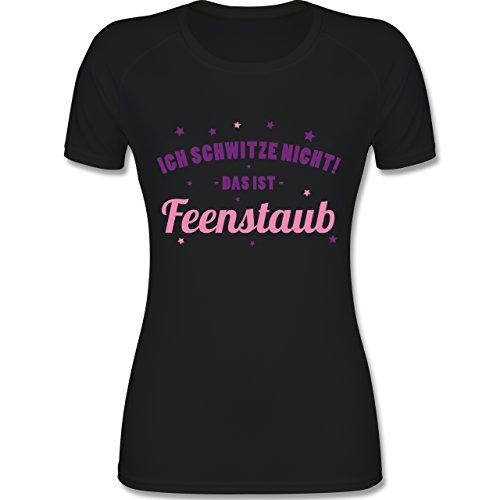 CrossFit & Workout - Ich Schwitze Nicht! Das ist Feenstaub - XL - Schwarz - F355 - Atmungsaktives Funktionsshirt für Damen (Spiele Ich Fußball T-shirt)