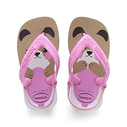 Havaianas Baby Pets II, Sandales Mixte bébé, Multicolore (Rose Gold 3581), EU Multicolore (Rose Gold 3581) 22 EU