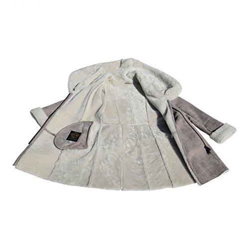 Lammfelljacke - IRMA Damen Jacke Felljacke Winterjacke Lederjacke Merino Fell Size L, Color Beige - 3