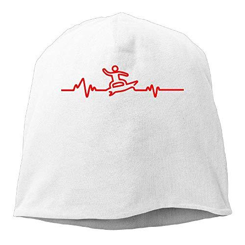 WYICPLO Heart Beat Pulse T-Shirt tee Surfer Board Winter Beanie Skull Cap  Warm Knit 871a88d4aeb2