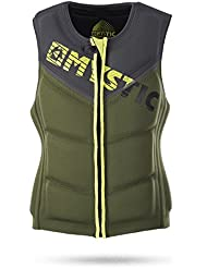 2017 Mystic Star Front Zip Wake Impact Vest Army 150565 Size - - Medium