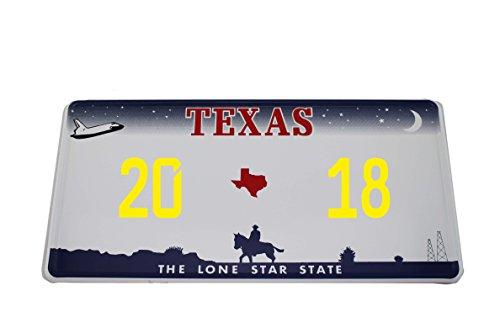 US Auto Kennzeichen STATE LICENSE PLATE Schilder USA Texas mit Wunschprägung (gelb)