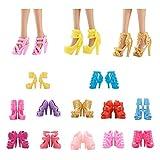 ASIV 12 paires Style Différent Chaussures et Bottes Accessoires pour Poupée Barbie...