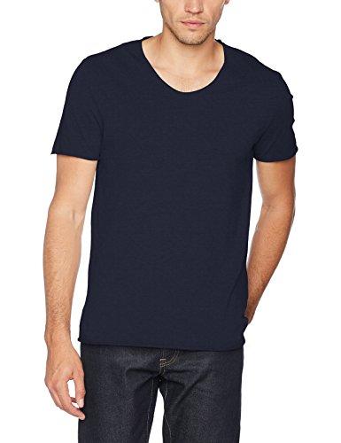 SELECTED HOMME Herren T-Shirt Shnnewmerce Ss O-Neck Tee Noos Blau (Dark Sapphire)
