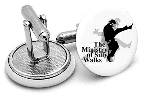 Ministère de Silly Walks type 2 boutons de manchette et pince à cravate, Monty Python Bijoux, Monty Python, boutons de manchette. Monty Python Bijoux
