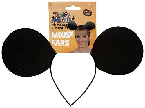 Smiffys Damen Mausohren auf Haarreif, One Size, Schwarz, ()