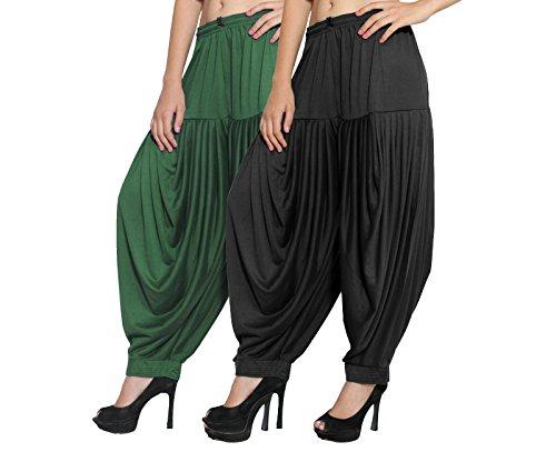CRAFTSTRIBE Indische Frauen Patiala Salwar Viscose Lycra Hose Baggy Hosen Free Size Salwar Hose