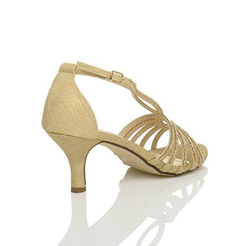 Bomba Salto Da Do Elegantes De belt Sandálias Casamento Tamanho Senhoras Ouro De Sapatos T Alto correia fPnvRU