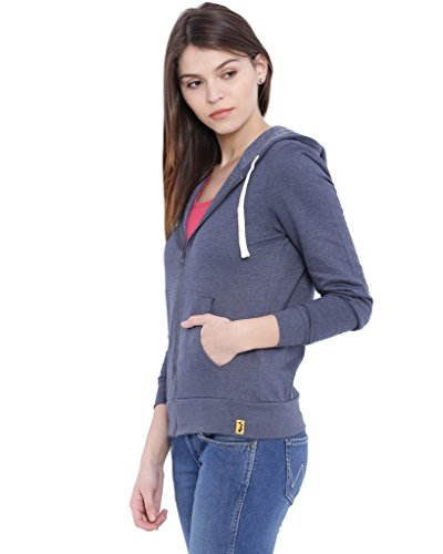Campus-Sutra-Women-Denim-Zipper-Hoodie