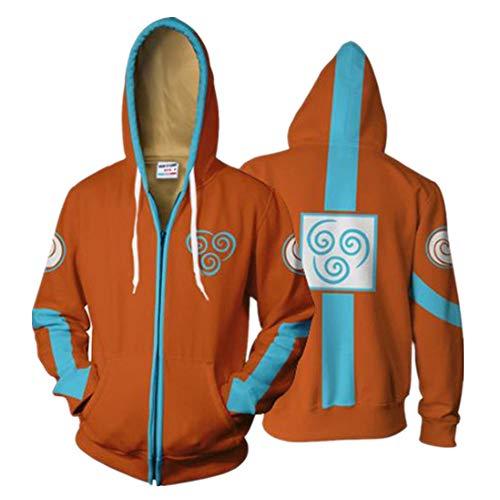 CSXGUO Kapuzenpullover,Avatar 3D Print Kostüm Cosplay Hoodie Sweatshirt Herren Oberteile Hoody,M,Gelb (Kostüm Avatar Mann)