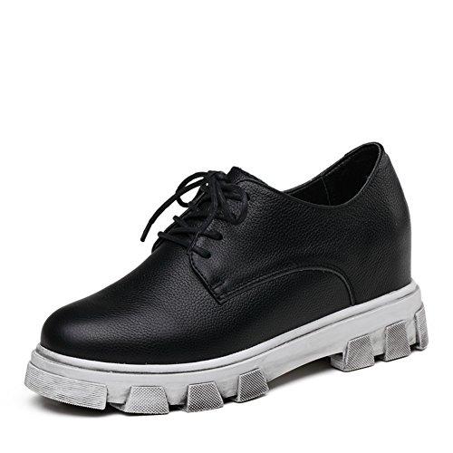 Chaussures casual féminin printemps/Augmenter dans la version coréenne de souliers pour dames/Lok Fu chaussures femme/Chaussures plates/Chaussures en cuir A