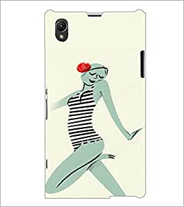 PrintDhaba Crazy Girl D-2884 Back Case Cover for SONY XPERIA Z1 (Multi-Coloured)