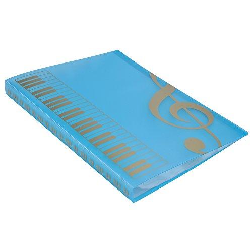 Punk Musik Tabelle Datei Papier Stauraum Ordner Dokumente Halter blanko Dateien Kunststoff-A440Taschen blau