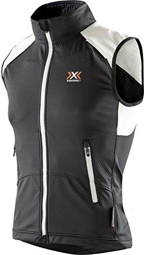 X-Bionic Damen W_Crosscountry Lady SPHEREWIND Light OW Vest Weste, Black/White, XL