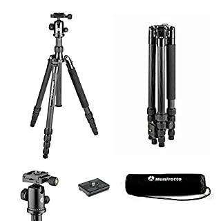 Manfrotto Element Traveller Carbon Kit (groß, sehr leichtes Reisestativ aus Carbon mit Kugelkopf, verwandelbar in ein Einbeinstativ, inkl. Tragetasche und Spikes, geeignet für Arca Swiss) schwarz (B075D6SKT7) | Amazon price tracker / tracking, Amazon price history charts, Amazon price watches, Amazon price drop alerts