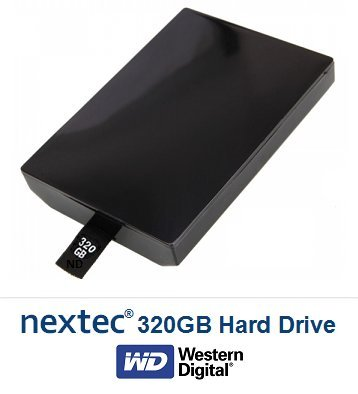 nextec Xbox 360 Slim (320 GB) Hard Disk per Microsoft Xbox 360 Slim Console