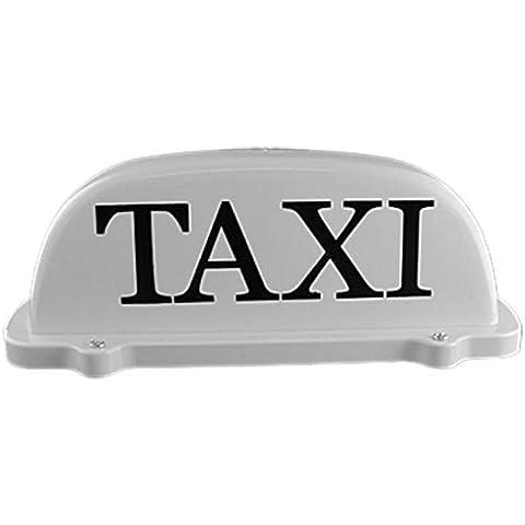 Sodial(R) - Insegna per taxi con base magnetica, CC 12 V, con luce gialla
