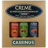 Box 3 Balsamic Vinegar Creams exclusively made with Modena Balsamic Vinegar PGI - 3 Flavours: Wild Berries/Fig/Cherry (Box 3 Creme di Aceto Balsamico di Modena IGP alla Frutta CASEINUS) - 3x5.28 Oz. (3x150ml)