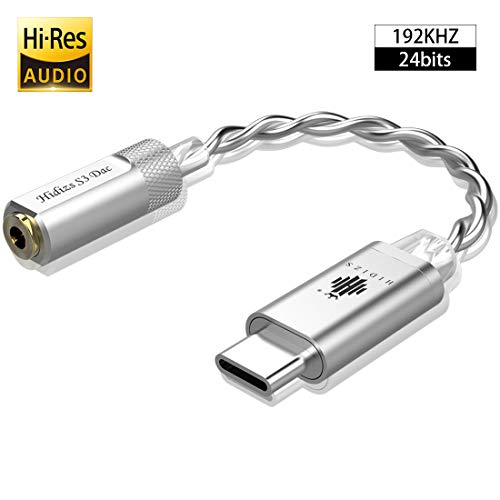 HIDIZS S3 Portable Kopfhörer Verstärker/USB C DAC/Audio Verstärker für Android/Windows/MacOSX System Smartphone Laptop (Silber)