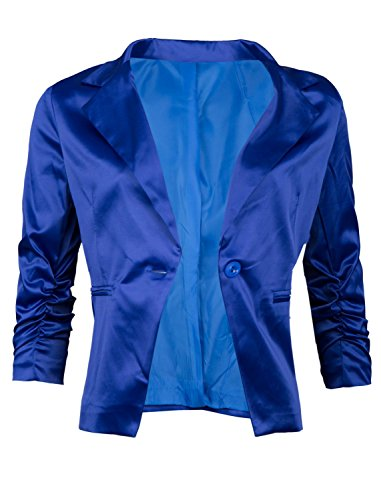 Giovani & Ricchi élégant satin Femme Veste Blazer Blazer coton Ricchi dans plusieurs couleurs 36384042 Schwarz